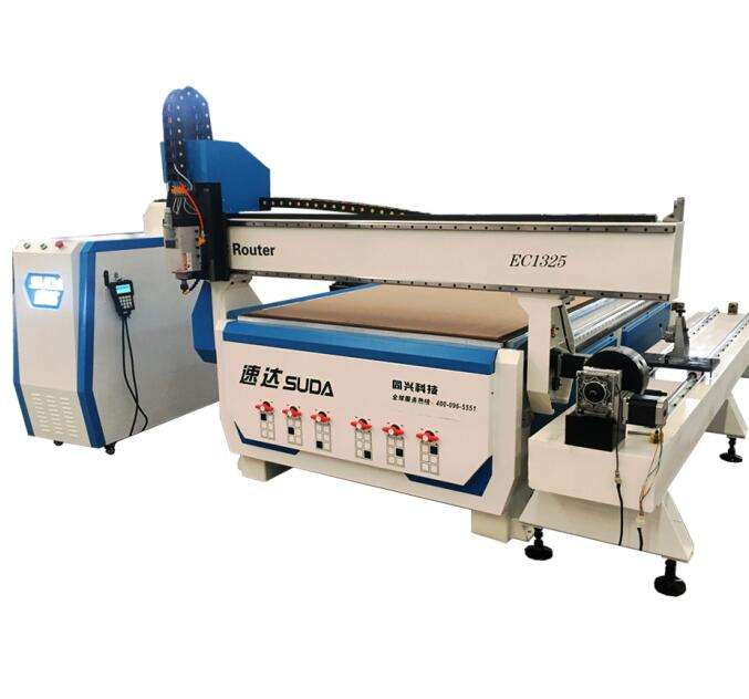 SUDA 1325 Wood Door Engraving CNC Machine Furniture Wood working CNC Router with Rotary Device