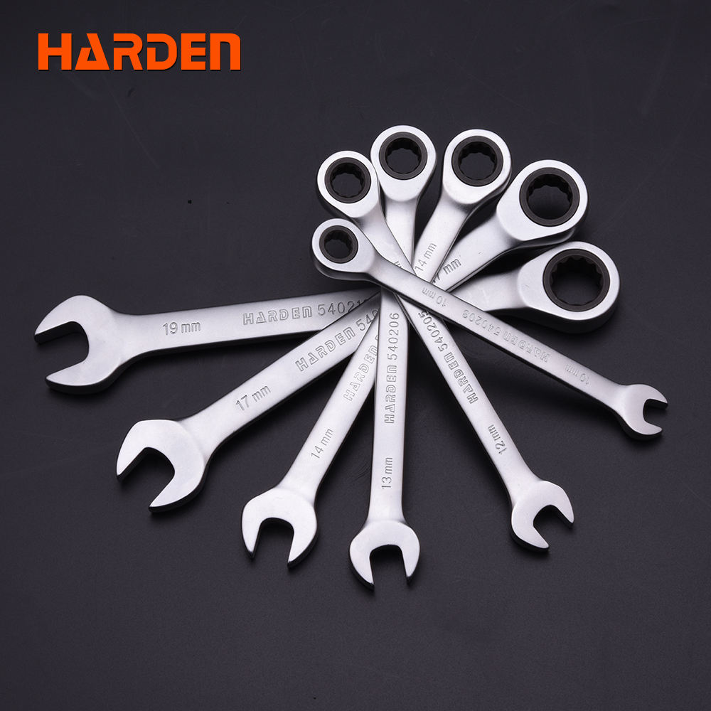 Chromium Vanadium Steel Double Offset Ring Spanner 72 Gear Ratchet Wrench Used for Mechanical Maintenance 14mm