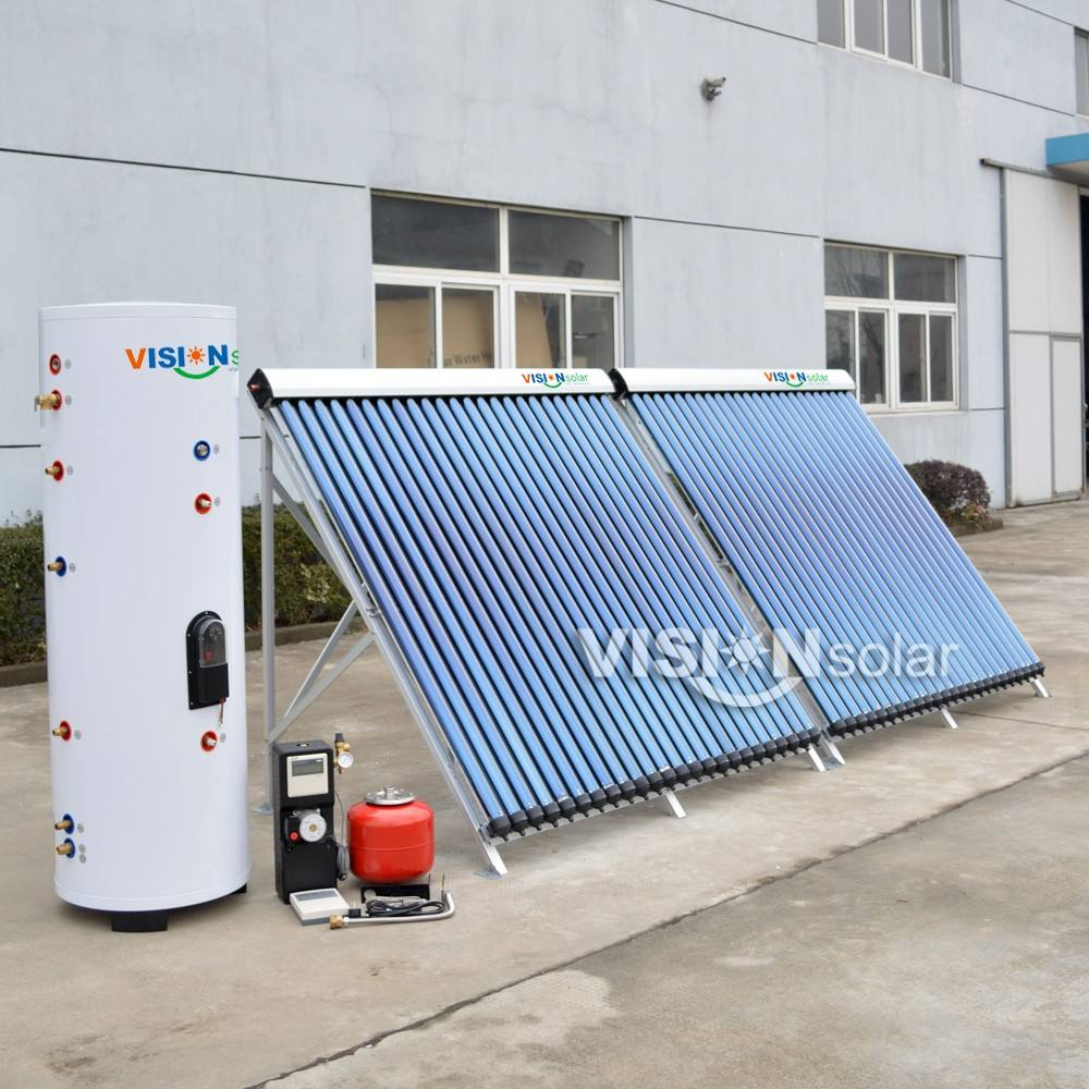 Factory price heat pipe collector solar water heater system split