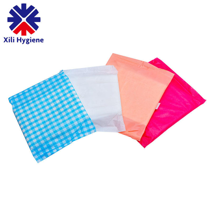 Customized Super Absorbent Sanitary Napkin Packaging Disposable Female Sanitary Napkin Packaging