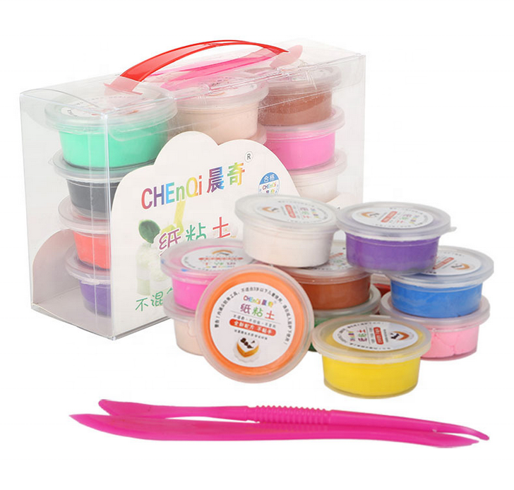 Children Playdough Toys DIY Super Light Colorful Modeling Clay Air Dry Clay