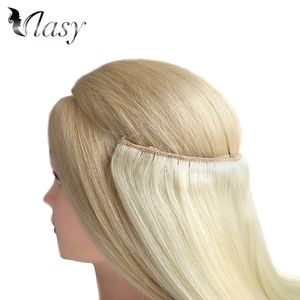 Free Sample Vlasy Straight Easy Going Human Hair Weft Extensions Pieces