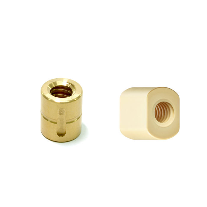 Trapezoidal lead screw with nut housing white or black mounting bracket aluminum for T8 screw brass nut engraving machine