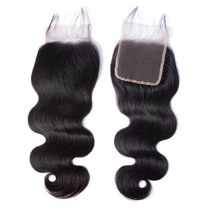 Wholesale 100% human hair u part bangs round 3 brazilian hair bundles with lace front closure