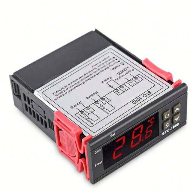 LED Digital Temperature Controller STC-1000 12V 24V 220V Thermoregulator Thermostat พร้อมและ Cooler