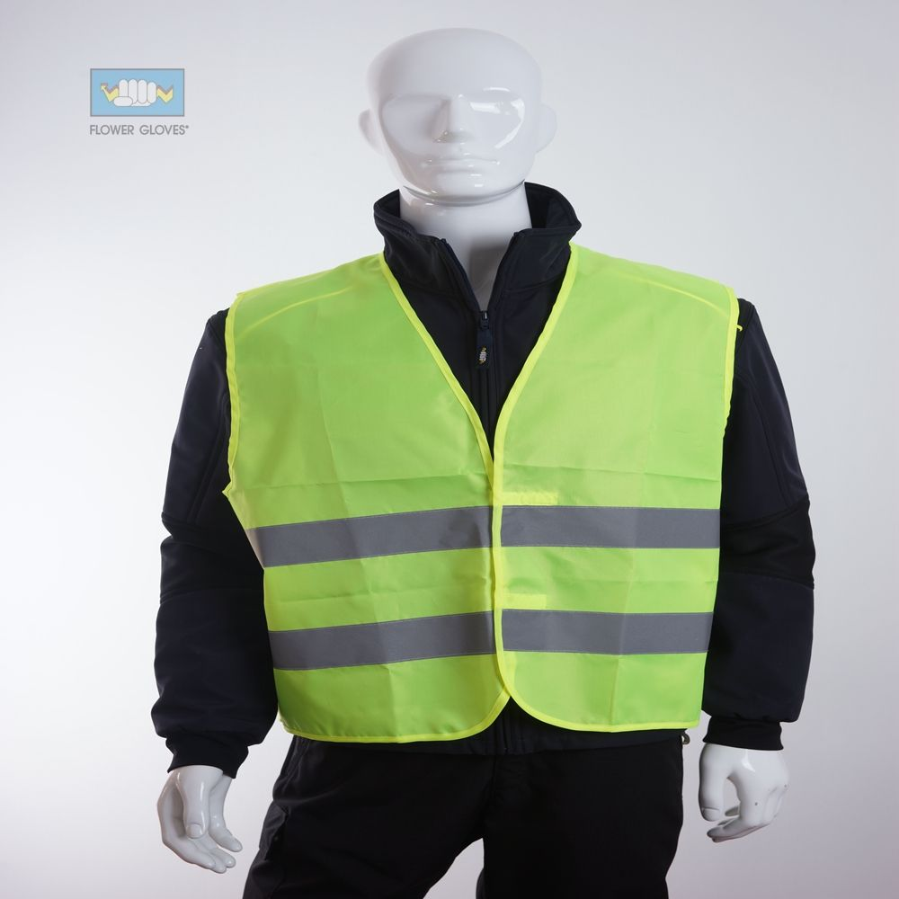 en20471 ad alta visibilità maglia di sicurezza con velcro