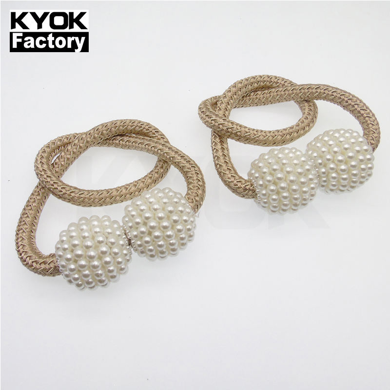 Kyok 2019 Fanci Antiqucurtain Tiebacks Magnetic Wood Curtain Tiebacks Holder Crystal Tiebacks