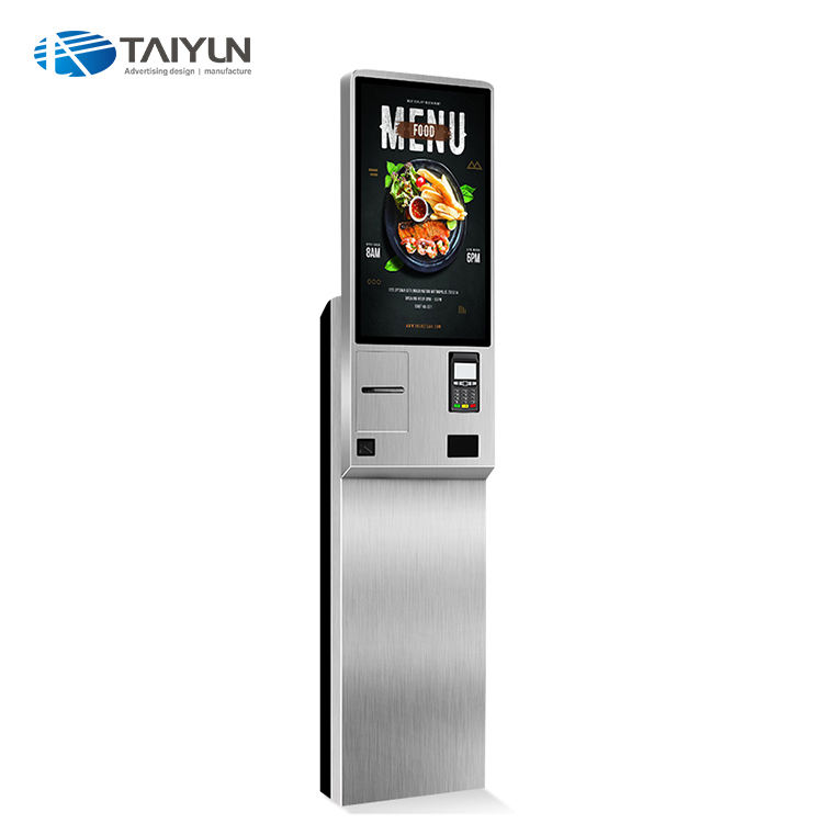 24'' Interactive Touch Screen Kiosk Self-Service Payment Terminal Kiosk With Printer And QR Code Scanner