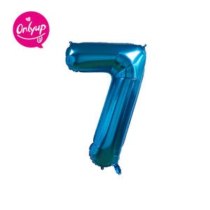 Colorful 40 inches jumbo number inflate foil balloon for party