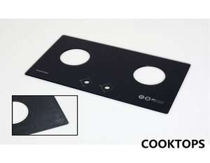 6mm tempered silkscreen printed home appliance gas stove cooktop glass