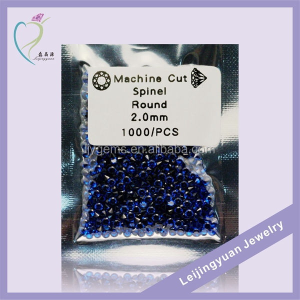 Ready To Ship #114 Blue Spinel Fashion Round 2mm Synthetic Stone Blue Sapphire