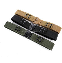 stock army tactical or military belt with plastic buckle and black snap buttons