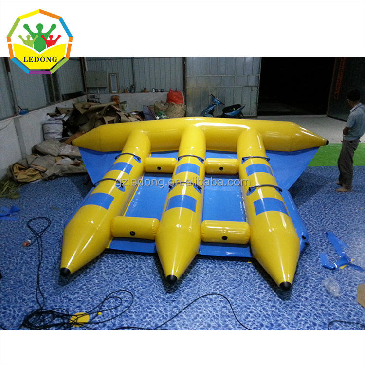 Inflatable Water Games Flyfish Banana Boat with wholesale price