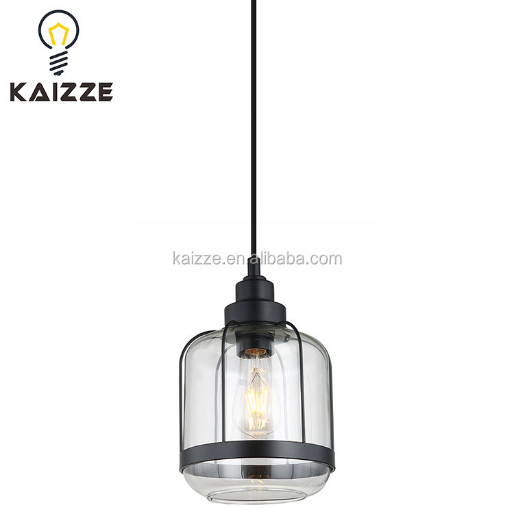 New Modern Metal Cover Clean Glass Pendant Lamp Restaurant Chandelier Dining Room Hanging Lamp