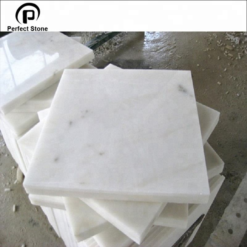 China polishing guangxi white marble stone cut to size for 2 cm thick marble