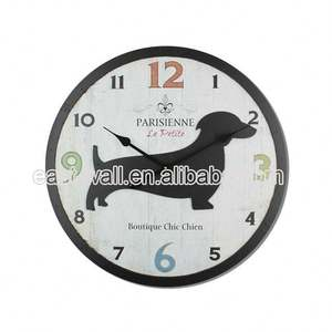Hot Quality Make To Order Mdf Personalized Custom Logo Creative Wall Clock Clocks