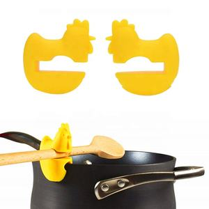 Cock Heat Resistance Food Grade Silicone Pan Clip Pot Spoon Holder