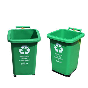 Wholesale plastic the 50L trash cans waste bin outdoor for home use