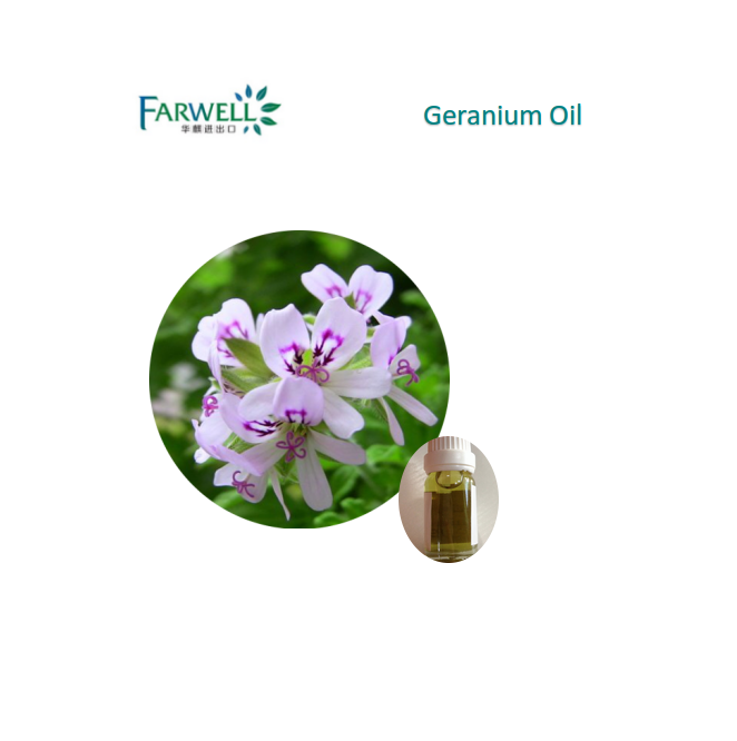 Farwell 100% natural Geranium Oil from reliable supplier 8000-46-2
