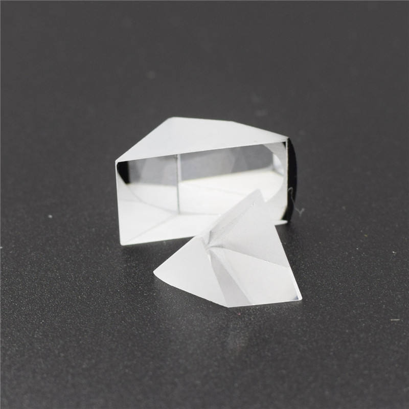 64mm Powell Cut Glass 5mm K9 Wedge For Sale X-cube Blank Triangular Prism