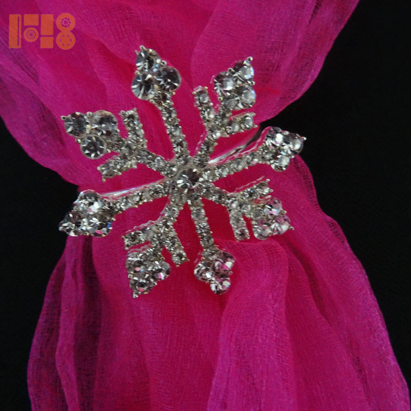 Bulk Napkin Holder Flower Rhinestone Napkin Rings For Wedding decoration