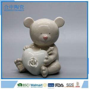 Handmade gấu desgin quà tặng valentine quà tặng ngày gốm trang trí.