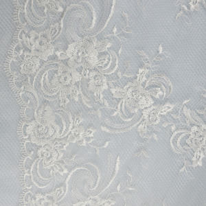 Incredibile Morbido Da Sposa Bellezza Dress130CM Brillante In Fibra di Poliestere Tessuto di Pizzo