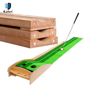 Wood Indoor Golf Putter Trainer Practice Set Training Mat Indoor Mini Golf Putting Green Golf Simulator Set Manufacture&Export