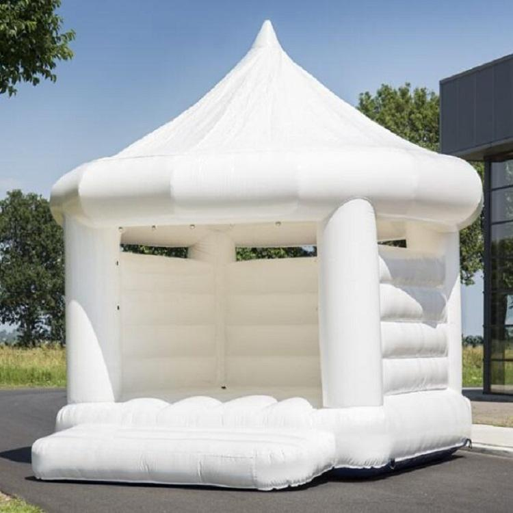 Outdoor Inflatable Wedding Bouncy Castle Inflatable White Jumping Bouncer House For Sale