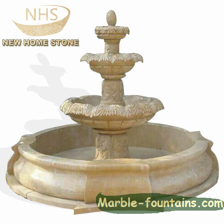 hand carve marble fountain outdoor