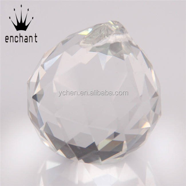 longsheng Handmade Red Crystal Prism Ball Rainbow Maker Hanging Suncatcher Home Wedding Decor Gift