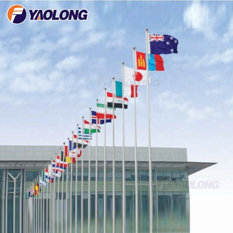 widely used 12 meter electric motorized aluminum flag pole for sale