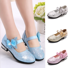 lx10612a new style children shoes girls party shoes heel bowknot princess shoe