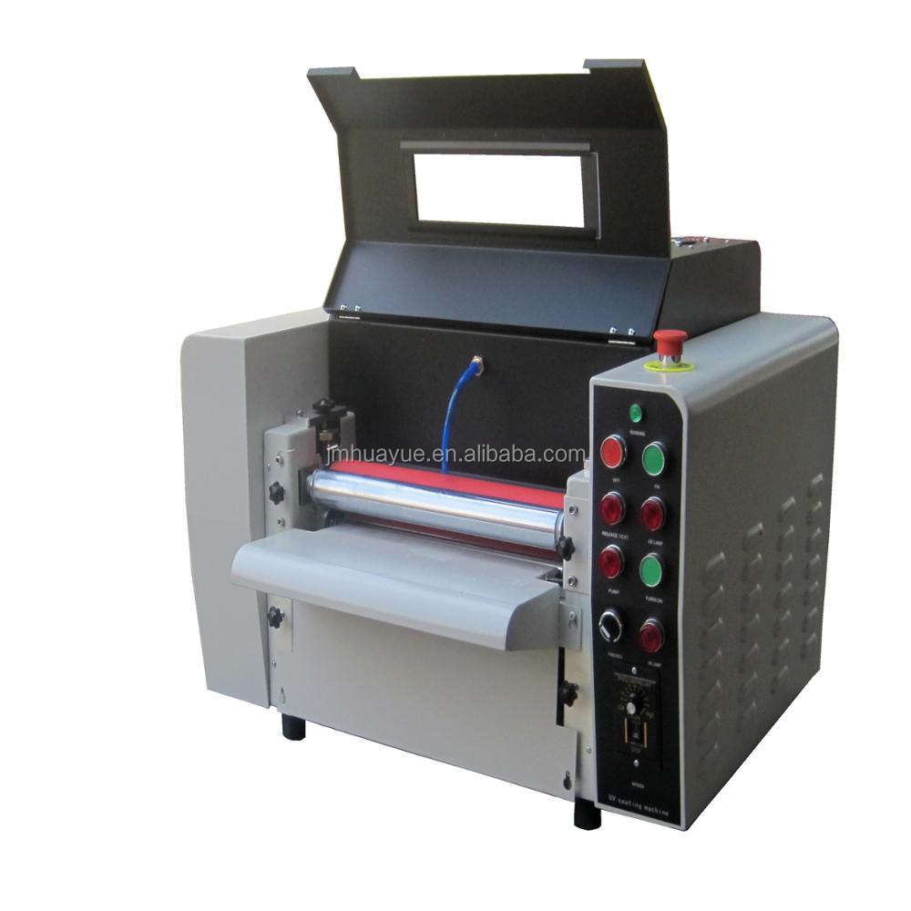 HY brand High glossy uv liquid laminating machine
