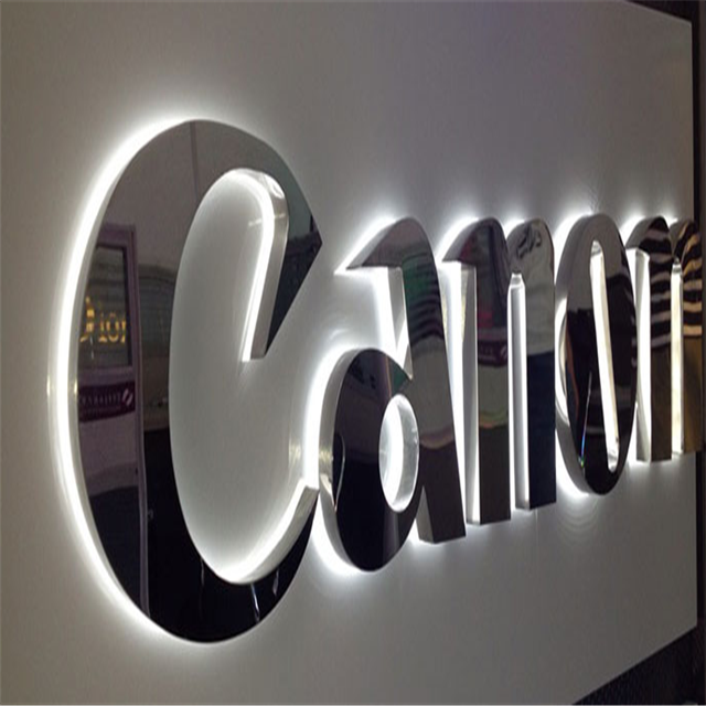 Custom led channel metal letters 3d logo used outdoor lighted signs