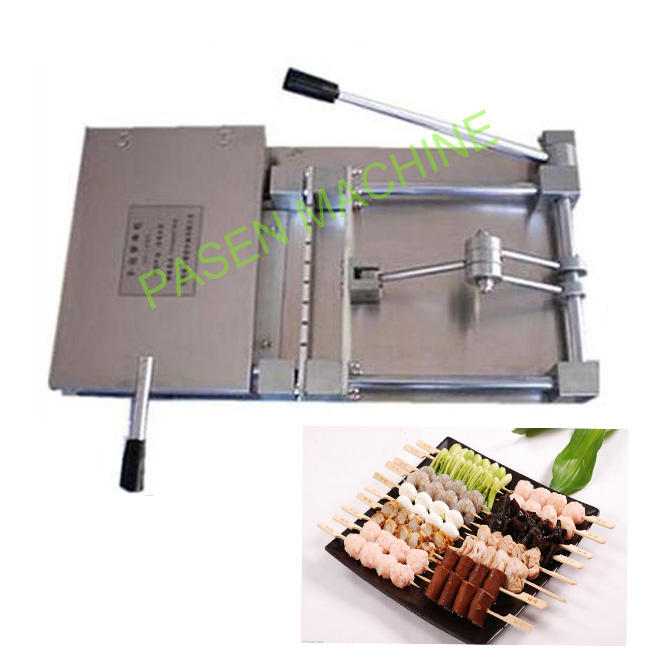 shish kebab making machine/Lamb meat skewer wearing machine/ souvlaki skewer machine