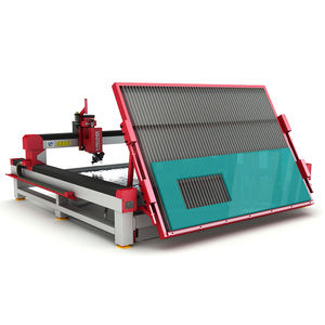 Water jet laminated glass cutting machine cut glass