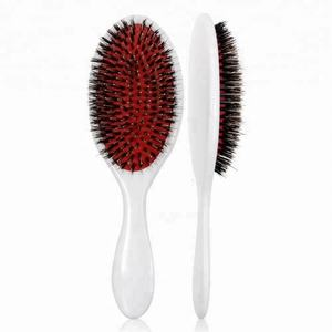 Red air cushion paddle hair brush nylon mixed boar bristle, extension paddle hair brush