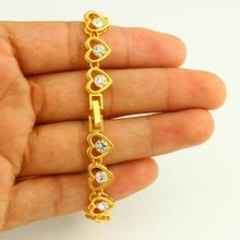 JH wholesale heart shape charm bracelet models new gold bracelet model