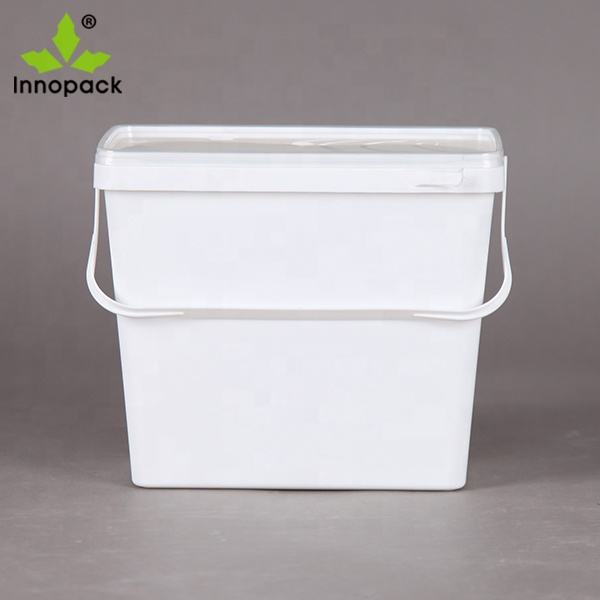 Supply 2L 5L 8L 10L 15L 18L 20L square plastic bucket in food grade oil or chemical