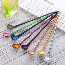 New product ideas 2019 stainless steel metal reusable drinking straw spoon