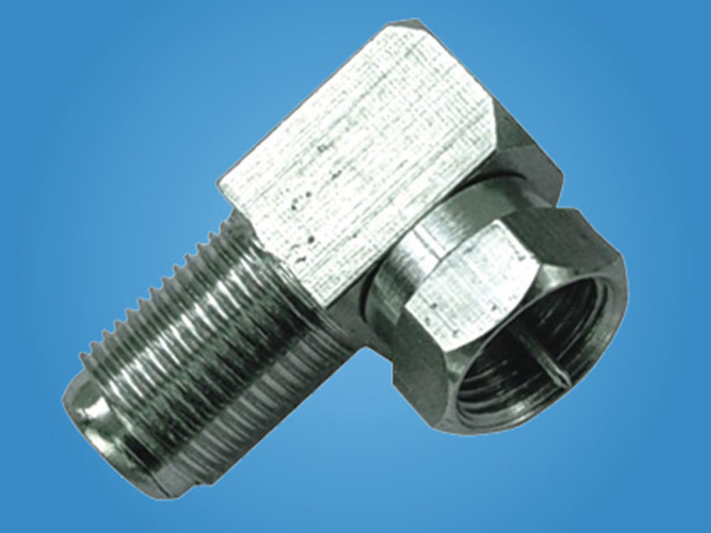Tahan air Pembuatan deutsch konektor F penjepit CRIMP RG58/59 kabel coaxial rg6 kompresi f connector