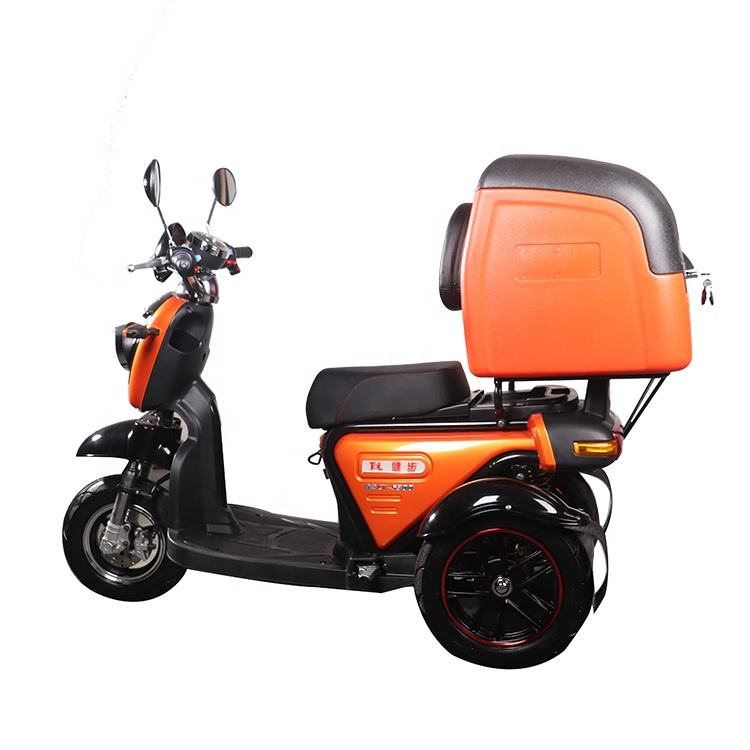 2019 New Cheap Fashionable Open Mobility Bike Easy Rider 3 Wheel 500w 48v Electric Delivery Scooter Food Cargo Adult Tricycle