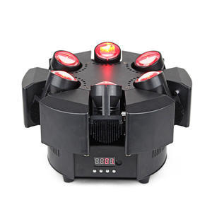전문 Disco LED 빔 Spot Moving Head mini 빛 Spider 6x10 W RGBW 4in1