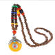 vintage Nepal jewelry wood beads ethnic necklace for wholesale