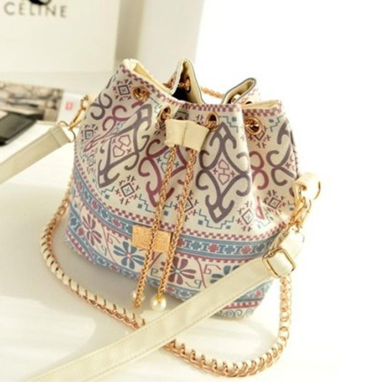 Korean newest pictures fashion bags canvas handbags ladies