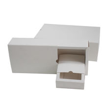 Custom Logo White Coated Paper Foldable Packaging Cheap Plain Gift Box