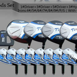 Cougar Men's Titanium Golf Clubs with Golf Bag