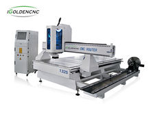 IGOLDENCNC wood cnc router 4 axis wood cnc machine 4 axis cnc router machine