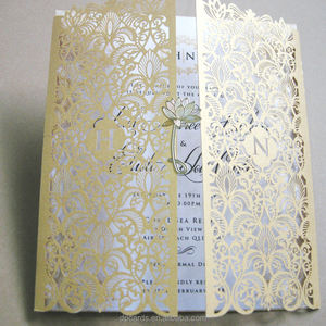 Wholesale laser invitations pocket card laser cut wedding invitations philippines